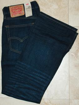 LEVI'S 527 men Slim Bootcut Jeans NEW WITH TAGS color: Indig