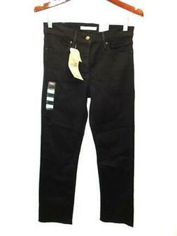 Levi's 6 Short NWT Black Jeans 314 Shaping Straight Leg 28 x