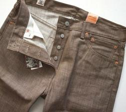 Levi's Levis Nwt 501 Shrink to Fit Toffee White Oak Cone Den