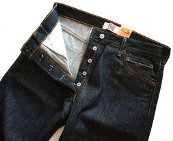 Levi's Levis Nwt 501 Shrink to Fit Black Raw Denim Jeans But