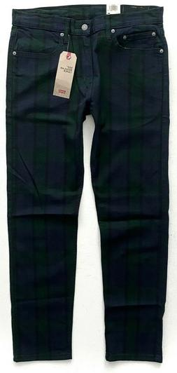 Levi's Levis Nwt 502 Regular Taper Stretch Blackwatch Plaid