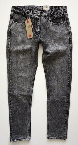 Levi's Levis Nwt Mens 512 Slim Taper Maximus Gray Acid Wash