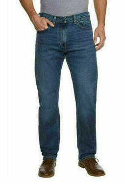 Levi's Men's 34X32 505 Regular Fit Jeans Dark Stonewash 0050