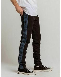 LEVI'S MEN'S LO-BALL STACK JEANS~DISTRESSED BLACK WITH BLUE