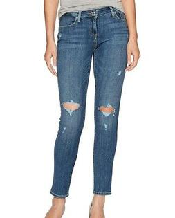 Levi's NEW Blue Break Womens Size 30x30 Ripped Curvy Skinny