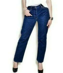 Levi's Original 501 For Women High Rise With Button, Blue, W