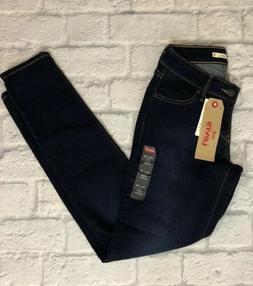 Levi's Women's 811 Curvy Skinny Jeans Sz 26x30 Dark Wash Str