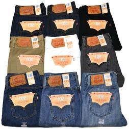 Levis 501 Jeans Button Fly Mens Denim Stonewashed W30 W32 W3