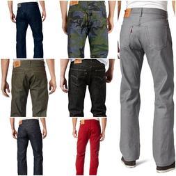 Levis 501 Jeans Mens Original Button Fly Shrink To Fit Denim