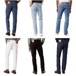 Levis 501 Jeans Mens Original Button Fly Fit Denim Light Dar