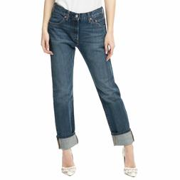 Levis 501 Original Fit Jeans Womens Boyfriend Straight 100%