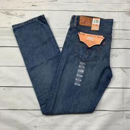 Levis 501 Womens Straight Leg Button Fly - Medium Wash Distr