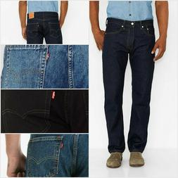LEVIS 505 REGULAR FIT ZIPPER FLY JEANS LIGHT BLUE STONEWASH