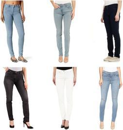 8d5915aa Levis 712 Slim Fit Jeans Womens Mid Rise Cotton Blend 5 Pock