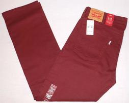 Men's Levis Jeans 513 Size 38x32 Slim Straight Stretch Choco