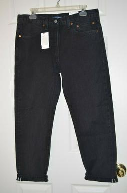 Levis Made Crafted Women 501 Taper Jeans Cropped Tag Sizes 3