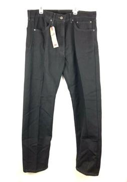 Levis, Men's 505 Regular Fit Black Jeans, Size 36W X 32L