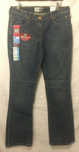 LEVIS STRAUSS Misses Low rise Boot cut Stretch Blue Jeans Wo