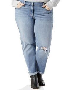 Levis Woman Plus Size 22W Boyfriend Jeans Mid Rise Distresse