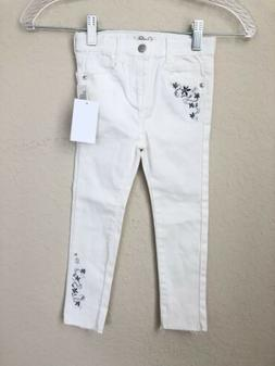 Jessica Simpson Little Girl's White Floral   Skinny Stretch
