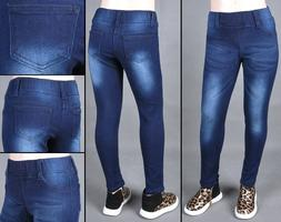 Little Girls Denim Jeans Jegging Stretch Elastic Waist DK wa