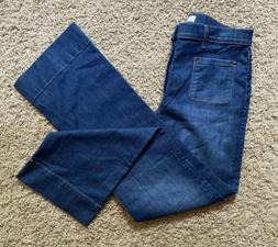 Ann Taylor Loft Wide Leg Women's Jeans-Medium Wash/Size 12