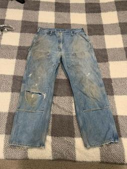Carhartt Logger Double Front Knee Pants Dungaree Light Blue