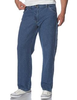 Dickies Men's Loose Fit Carpenter Jean, Stone Washed, 38x32