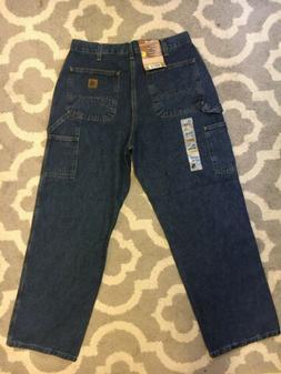 Carhartt Loose Original Fit Work Dungaree 34x30 Mens Jeans B