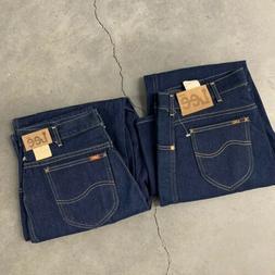 Lot Of 2 NOS Vintage 80s Lee Rider Denim jeans Dark Wash 32