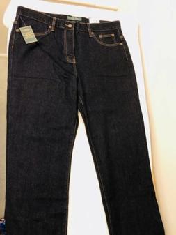 LRL Lauren Ralph Lauren Classic Straight Leg Dark Denim Jean