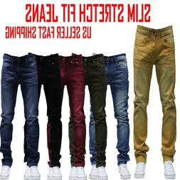 MEN Jeans Slim STRETCH FIT SLIM FIT Trousers Casual Pants SK
