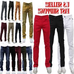 MEN Jeans Slim STRETCH FIT SLIM FIT Trousers Casual Pants SK