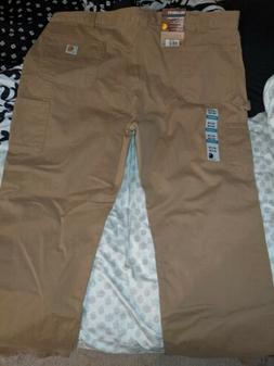 Carhartt Men Jeans  Tan Color B324 DKH 100% Cotton Relaxed F