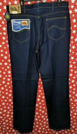 LEE Men Regular Fit Stretch Straight Leg Blue Denim Jeans 38