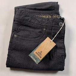 "prAna Men's 34"" Inseam Bridger Jeans, Size 28, Black"