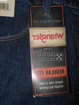 Men's 38 x 32 Wrangler Advanced Comfort Regular Fit Dark Was