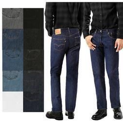 Levis Men's 501 Denim Original Shrink to Fit Button Fly Jean