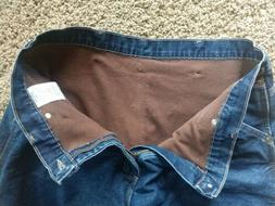 Men's Wrangler Authentic Issue Flannel Lined Carpenter Jeans