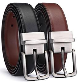 Men's Belt, Bulliant Genuine Leather Reversible Belt for Men