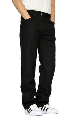 MEN'S BLACK REGULAR FIT STRAIGHT LEG DENIM JEANS OSCAR
