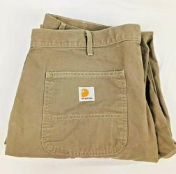 Carhartt Men's Canvas Relaxed Fit Straight Leg Khaki Pant Sz