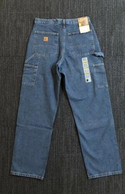 Carhartt Men's Carpenter Signature Denim Dungaree Jeans Dark