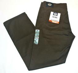 Men's Dockers Dark Brown Jean Cut Straight Fit All Seasons T