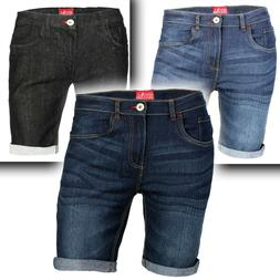 Men's Denim Shorts Slim Fit Stretch Chino Flat Front Jeans H