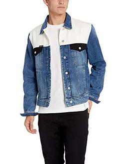Calvin Klein Men's Denim Trucket Jacket, Keeling patch, Larg