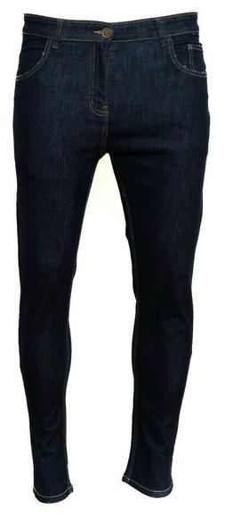 Men's Skinny JEAN Stretch Trouser Pants Denim Jeans Biker Pa