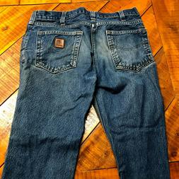Men's Carhartt Jeans Traditional Fit 32 x 32 Very Good