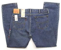 Men's Levi's 505 Regular Fit Blue Jeans  Dark Stonewash - 38