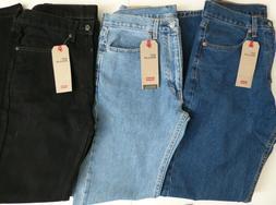Men's Levi's 505 Regular Fit Jean 100% Cotton - All Sizes